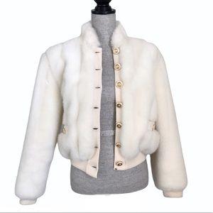 Vintage ST JOHN by Marie Gray Faux fur Coat